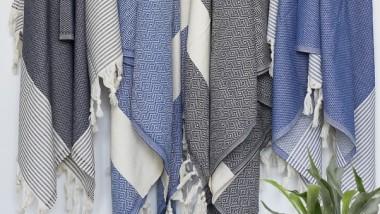 Lækre tyrkiske Hammam håndklæder/badekåbe i 100 % bomuld – FRI FRAGT!