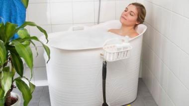 Få et smart badekar til brusebadet og forkæl dig selv med et dejlig varmt karbad
