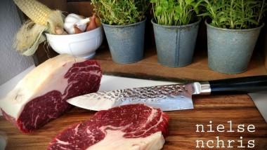 Eksklusiv kokkekniv i ægte Damaskus-stål – til en skarp pris!