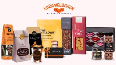 Få et gavekort på 150 kr. til tonsvis af lækkerier fra velkendte mærker fra Karamelboxen.dk